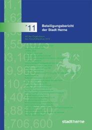 Beteiligungsbericht 2011 - Stadt Herne