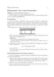 Programmation : TP 11 noté (23 mars 2004) - La Recherche - Enac