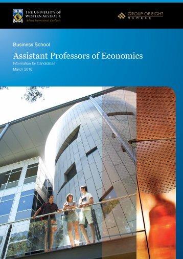 Assistant Professors of Economics - His.admin.uwa.edu.au - The ...