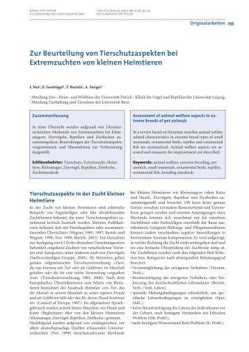 4ierschutzaspekte (eimtiere - Vetsuisse-Fakultät - Universität Bern