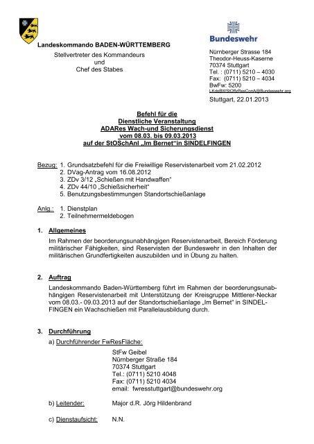 Org Befehl Schieaÿen 09 03 2013