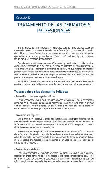 Tratamiento de las dermatosis profesionales - PIEL-L Latinoamericana
