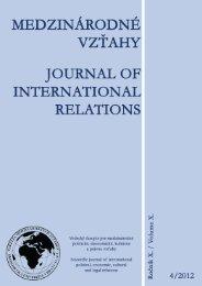 4 - Fakulta medzinárodných vzťahov - Ekonomická univerzita v ...