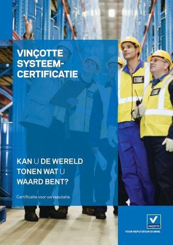 Vinçotte systeem- certificatie