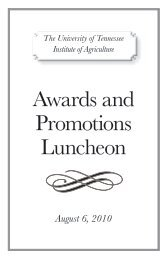 Awards and Promotions Luncheon - UTIA!