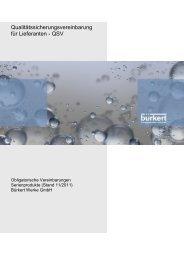 Qualitätssicherungsvereinbarung für Lieferanten - QSV