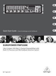 europower pmp530m - Behringer