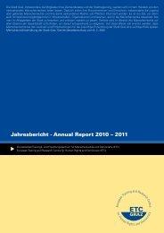 Jahresbericht - Annual Report 2010 – 2011 - ETC Graz
