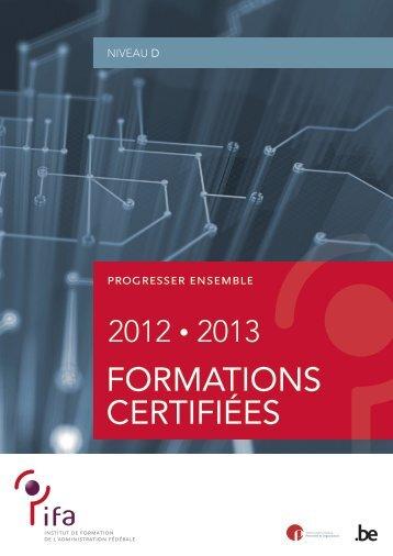Formations certifiées de niveau D - Fedweb