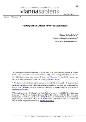 formação de cartéis e impactos econômicos - Instituto Vianna Jr