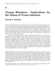 9 Change Blindness: Implications for the Nature of Visual Attention