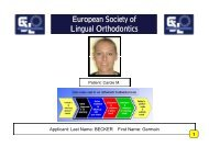 European Society of Society of Lingual Orthodontics - Colloquium