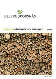 Prislista sågtimmer och massaved - Billerud AB