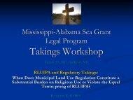 RLUIPA and Regulatory Takings - Mississippi-Alabama Sea Grant ...