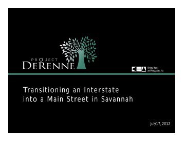 Transitioning an Interstate into a Main Street in Savannah - Georgia ...