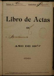 Libro de Actas - Arxiu Municipal de Llagostera