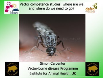 Vector competence studies: where are we and ... - Medreonet - Cirad