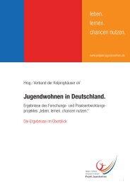 Jugendwohnen in Deutschland. - Verband der Kolpinghäuser eV