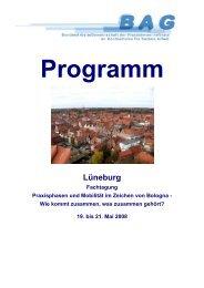 Flyer der Fachtagung in Lüneburg 2008