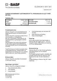 GLENIUM ® SKY 601 - BASF Construction Chemicals