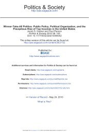 Winner-Take-All Politics: Public Policy, Political ... - UC San Diego