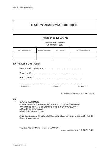 Conclure un bail commercial conclure un bail commercial for Meuble commercial