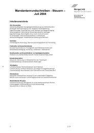 Mandantenrundschreiben Steuern Juli 2004 - Wengert Gruppe