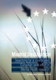 Madrid Declaration - Cibersam