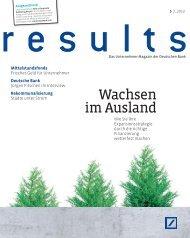 Wachsen im Ausland - Firmenkunden - bei der Deutschen Bank