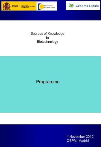 Fuentes de Conocimiento en Biotecnología - Madri+d
