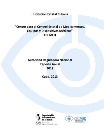 Reporte Anual 2012.pdf - Cecmed