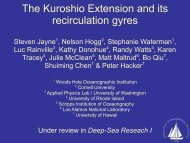 Recirculation in the Kuroshio Extension - clivar