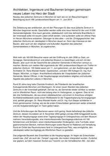 Bericht_VBI Jüdisches Gemeindezentrum - VBI BAYERN