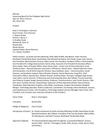 4-16-2013 - Northwest Florida State College