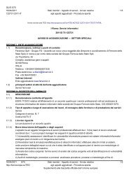 Avviso Appalto aggiudicato (.pdf 104 KB ) - Gare Ferservizi