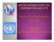 Role of ICTs in Promoting Cooperatives - Division for Social Policy ...