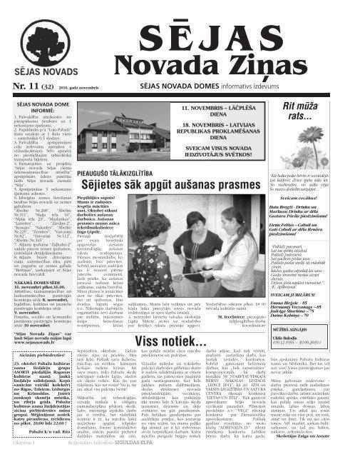 2010 NOVEMBRIS.pdf - Sējas novads