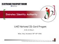UAE National ID Programme - Emirates Identity Authority