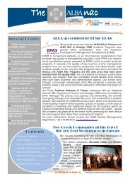 ALBANAC Issue 22 - ALBA Graduate Business School