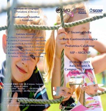 Programma definitivo e Scheda di iscrizione - SIGENP