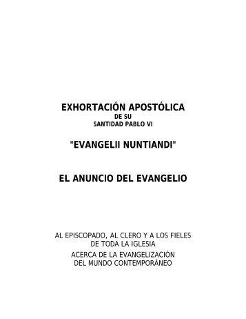 Evangelii Nuntiandi - Iglesia Católica Conferencia Episcopal del ...