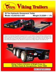 55 Ton Hydraulic Gooseneck Trailer Model: VLD52102-3-55T ...