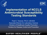 Implementation of nccls antimicrobial susceptibility testing standards