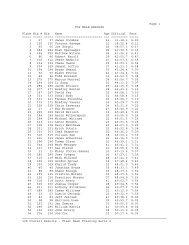 Page 1 TOP MALE RESULTS Place Bib # Bib Name Age ... - TriDuo