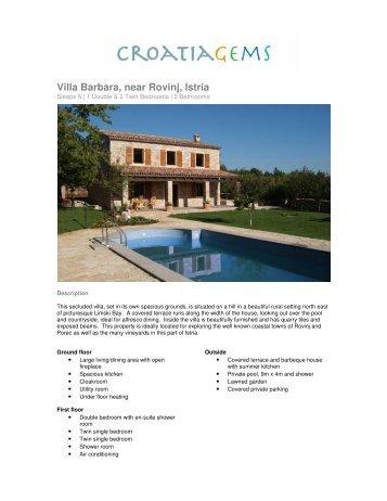 Villa Barbara, near Rovinj, Istria - CroatiaGems