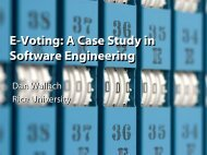 Case study electronic voting systems - Secure Application ...