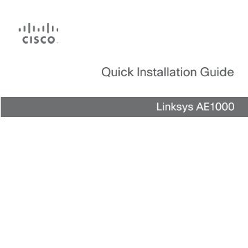 Linksys E-Series Router Quick Installation Guide - Ipland
