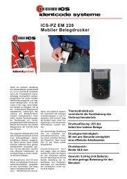 ICS-PZ EM 220 Mobiler Belegdrucker - ICS Identcode Systeme AG