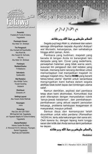 Fatawa Vol.1 No.01