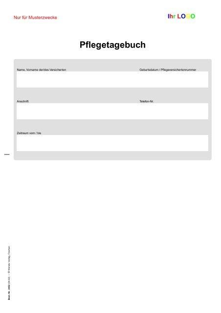 Pflegetagebuch